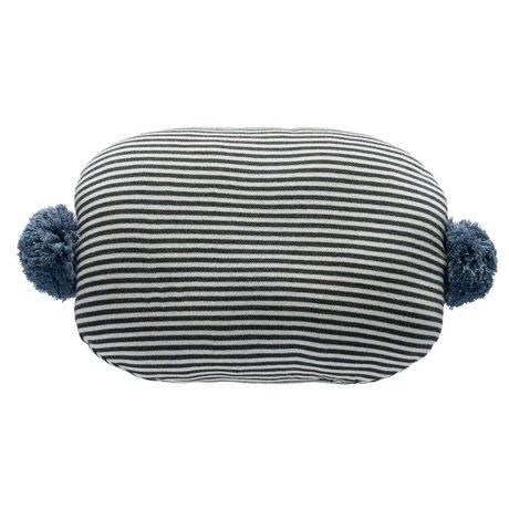 OYOY Coussin Bonbon blanc gris bleu coton 45x35cm