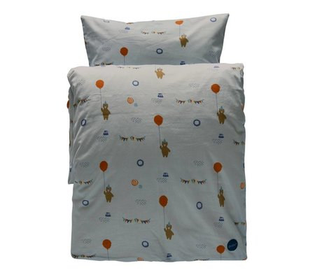 OYOY Duvet Happy circus one-person light organic cotton 140x200cm / 60x63cm