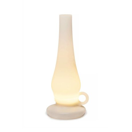 Xala Table Lamp LED wireless Lilly white plastic ø31x12cm