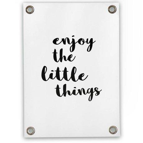 Sipp outdoor Genießen Sie Garten-Plakat die kleinen Dinge, weiße Kunststoff-Vinyl L 70x100cm
