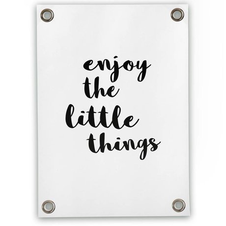 Sipp outdoor Tuinposter Enjoy the little things wit zwart kunststof vinyl L 70x100cm