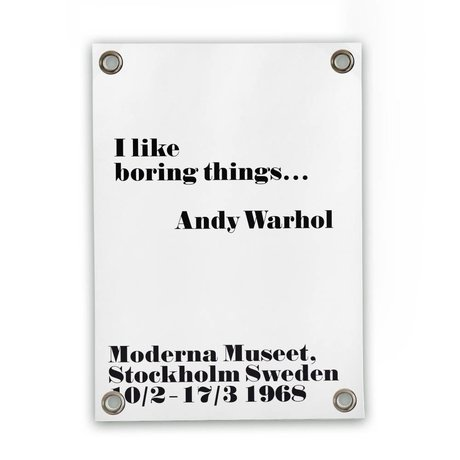 Sipp outdoor Garten Kunstdrucke von Andy Warhol - langweilige weiße Kunststoff-Vinyl S 50x70cm