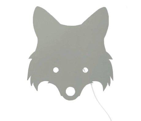 Ferm Living Wandlamp Fox dusty groen hout 30x22,5cm