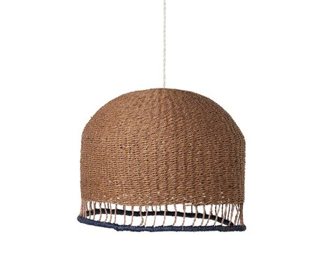 Ferm Living Braided lampshade Rose brown paper Low Ø37x29cm