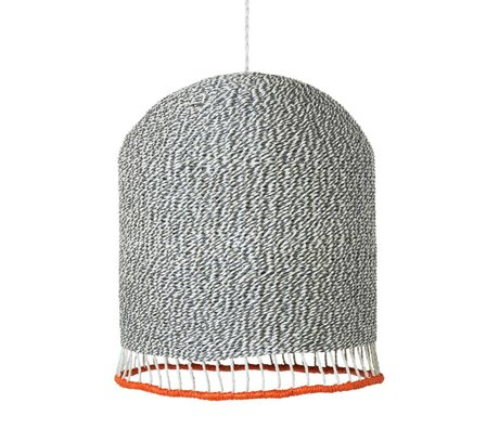 Ferm Living Braided lampshade light gray paper Medium Ø32x27cm