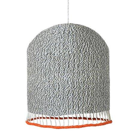 Ferm Living Lampenkap Braided licht grijs papier Medium Ø32x27cm