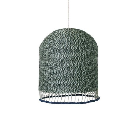 Ferm Living Braided lampshade dusty green paper Tall Ø28x45cm
