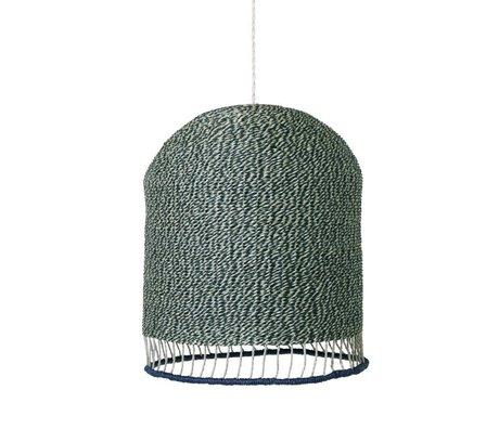 Ferm Living Lampenkap Braided dusty groen papier Tall Ø28x45cm