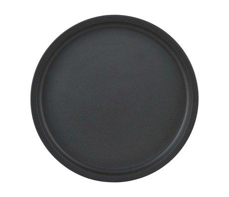 Nicolas Vahe Assiette Nista céramique noire Ø26,5x2cm