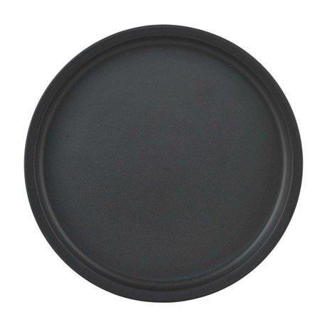 Nicolas Vahe Teller Nista schwarze Keramik Ø26,5x2cm