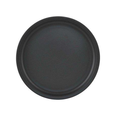 Nicolas Vahe Ontbijtbord Nista zwart keramiek Ø22,5x1,75cm