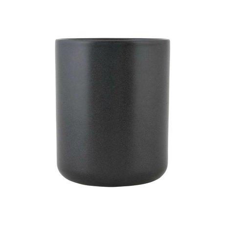 Nicolas Vahe Can Nista black ceramics M Ø10,5x13cm