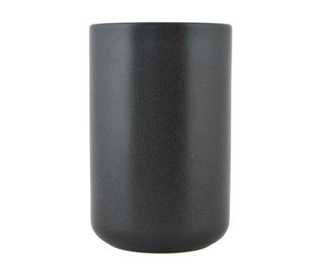 Nicolas Vahe Kan Nista zwart keramiek XL Ø10,5x16cm