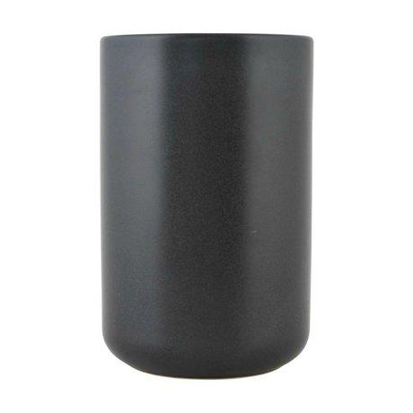 Nicolas Vahe Kann Nista schwarze Keramik XL Ø10,5x16cm