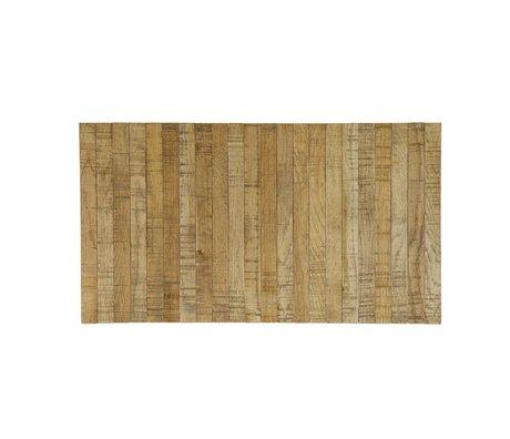 LEF collections Armleuning dienblad flexibel bruin eikenhout 44x24cm