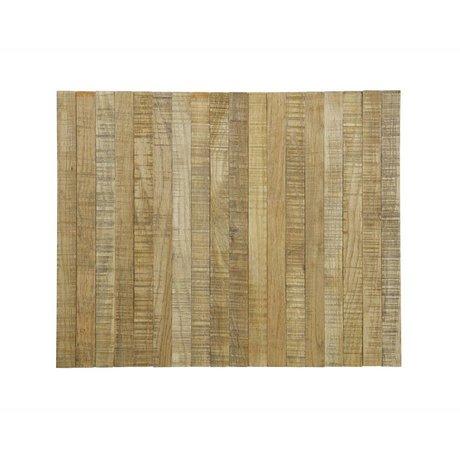 LEF collections plateau de Accoudoir chêne brun souple XL 45x36cm