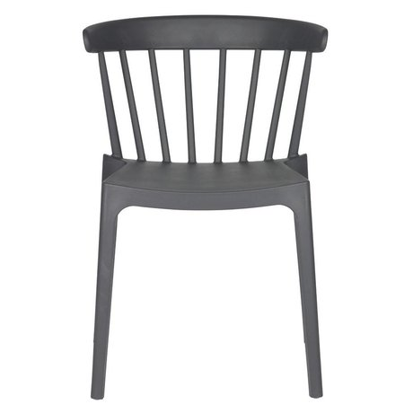 LEF collections Garden chair Bliss gray plastic 53x52x75cm