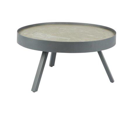 LEF collections Salontafel Skip grijs beton L Ø74x38cm