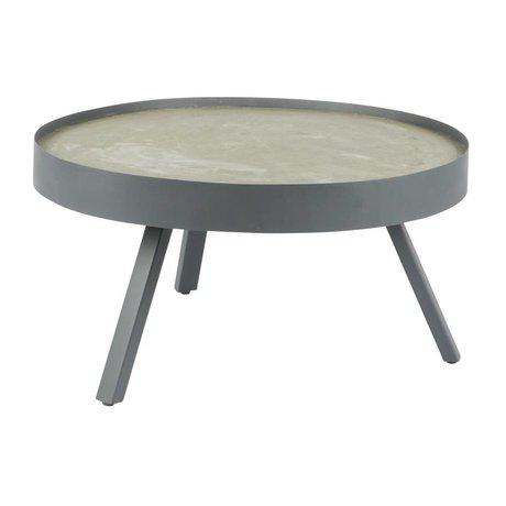 LEF collections Table basse Passer béton gris L Ø74x38cm