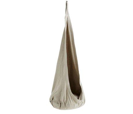 Madam Stoltz Hangstoel Swinger grau Polybaumwolle Ø55x140cm