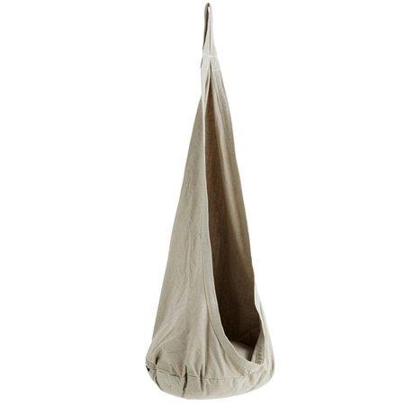 Madam Stoltz Hangstoel Swinger grijs polykatoen Ø55x140cm
