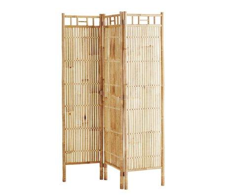 Madam Stoltz Kamerscherm naturel bruin bamboe 120x160cm