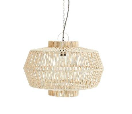 Madam Stoltz Hanglamp beige katoen Ø50x36cm