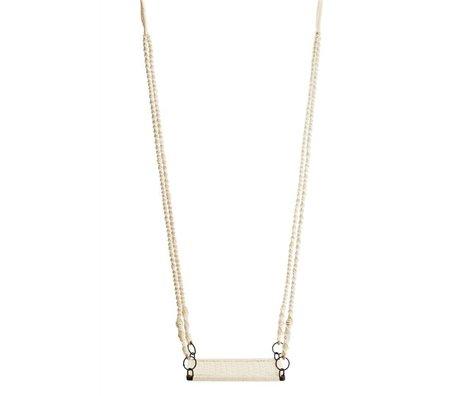 Madam Stoltz Swing-off-white Eisen Baumwolle 55x36x150cm