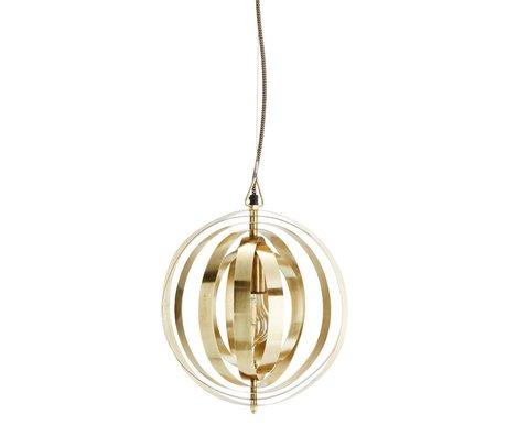 Madam Stoltz Hanglamp brass goud metaal Ø29x35cm