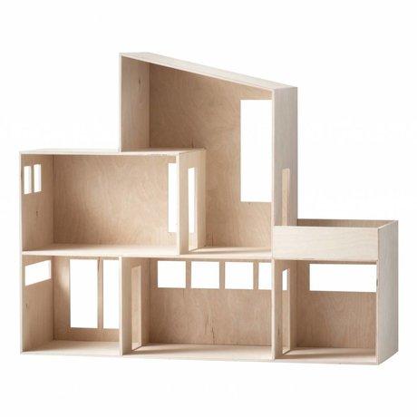 Ferm Living Anzeige Funky Haus aus hellem Holz 66,8x55,5x20cm