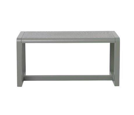 Ferm Living Bench Little Architect gray wood 62x30x30cm