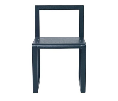 Ferm Living Chair Little Architect dark blue wood 32x51x30cm