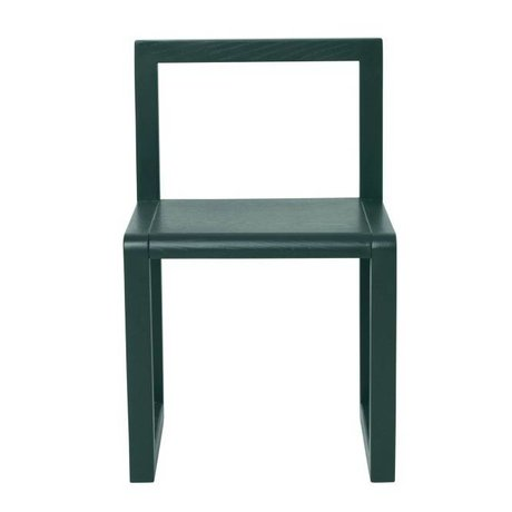 Ferm Living Chair Little Architect dark green 32x51x30cm
