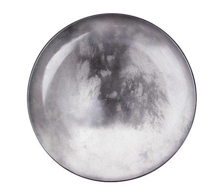 Seletti Dinner plate Titan gray porcelain Ø26x3cm
