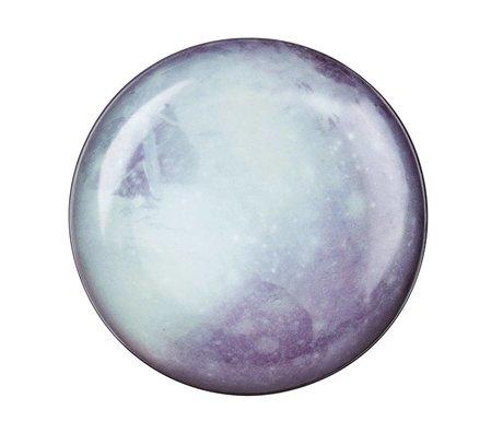 Seletti Dinner plate Pluto white blue porcelain Ø26x3cm