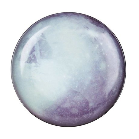Seletti Teller Pluto weiß blau Porzellan Ø26x3cm