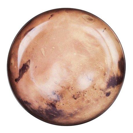Seletti Venus orange braun Porzellan Teller Ø26x3cm