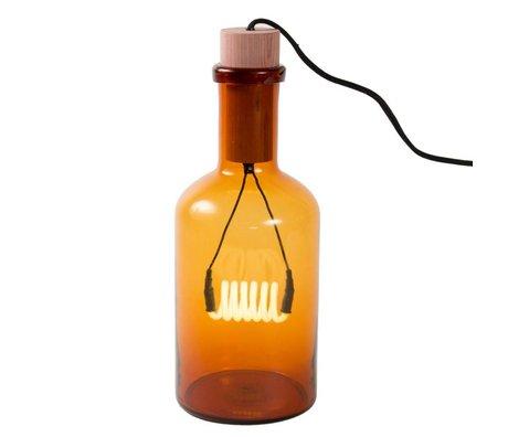 Seletti Lampe de table Bouché verre ambré tabouret porcelaine Ø15x39cm