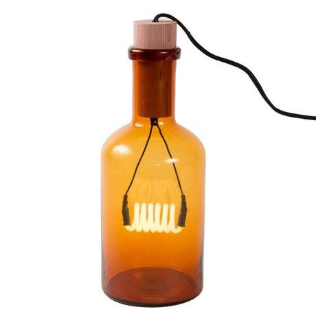 Seletti Tischlampe Bouché bernsteinfarbenem Glas Stuhl Porzellan Ø15x39cm