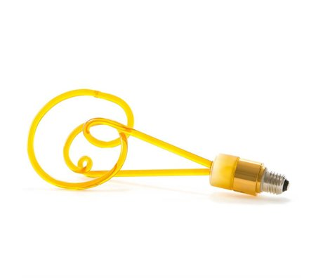 Seletti LED-Lampen-Twist bernsteinfarbenem Glas mit E27 30cm