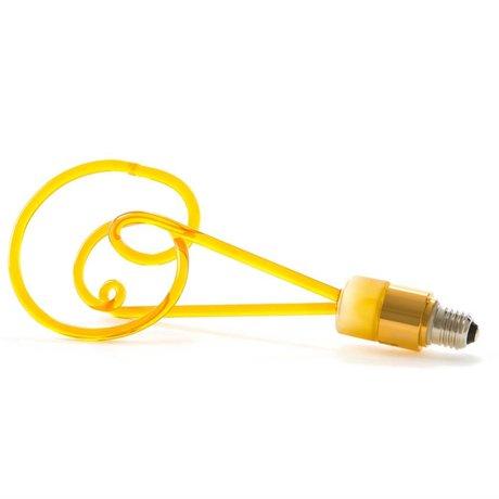 Seletti Ledlamp Twist amber geel glas met E27 fitting 30cm