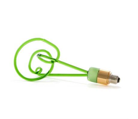 Seletti LED Lamp Twist green glass with E27 30cm