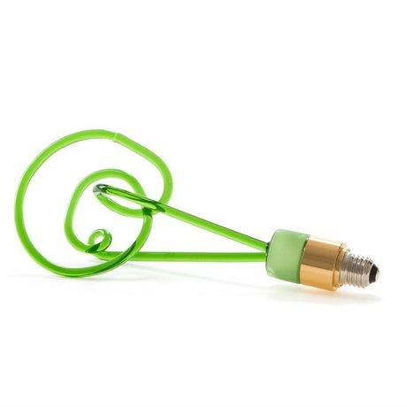 Seletti Ledlamp Twist groen glas met E27 fitting 30cm