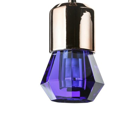 Seletti LED lamp crystaled-new Spot blue crystal glass with E27 Ø7x12,5cm