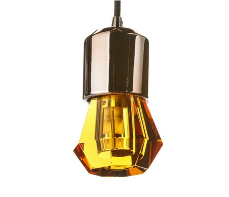 Seletti LED lamp crystaled-new Spot amber crystal glass with E27 Ø7x12,5cm