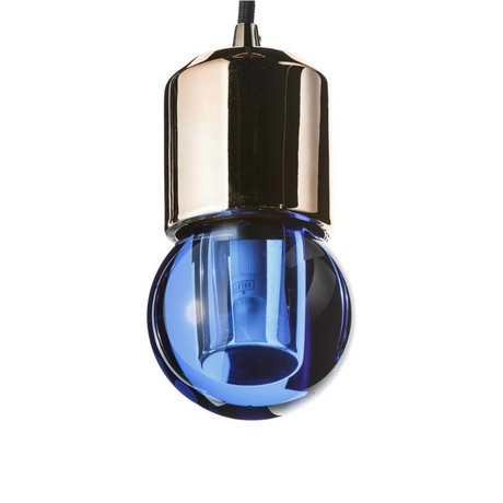 Seletti LED lamp crystaled-new Round blue crystal glass with E27 7,7x7,7x12,5cm