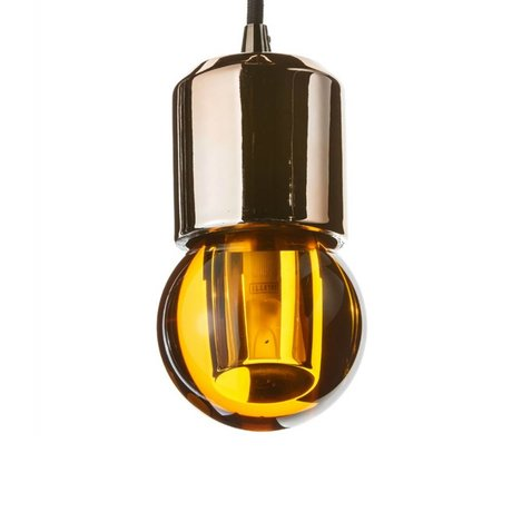 Seletti LED-Lampe crystaled neue Runde Bernstein Kristallglas mit E27 7,7x7,7x12,5cm