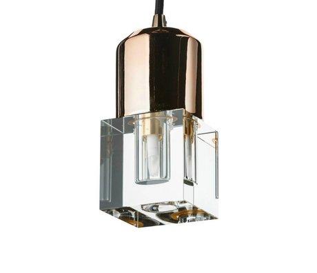 Seletti Ledlamp Crystaled-new Squared transparant wit kristal glas met E27 fitting 7x7x12,5cm