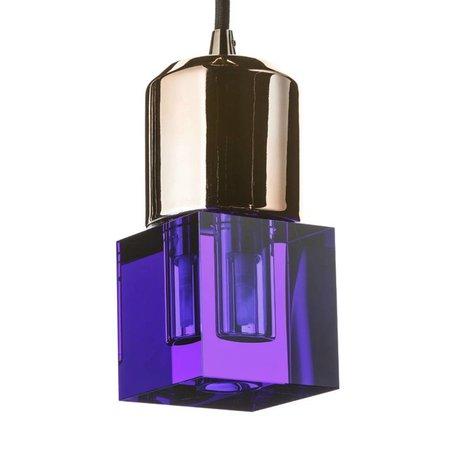 Seletti Ledlamp Crystaled-new Squared blauw kristal glas met E27 fitting 7x7x12,5cm