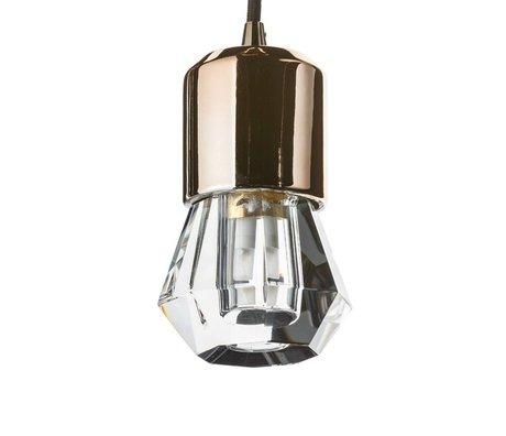 Seletti Ledlamp Crystaled-new Spot transparant wit kristalglas met E27 fitting Ø7x12,5cm